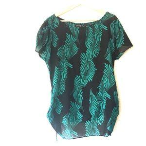 Nicole by Nicole Miller botanical print blouse